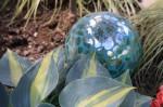 gazing  ball -animalprint